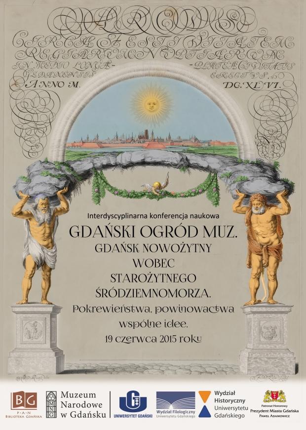 Gdański ogród muz. Plakat